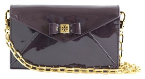 Tory Burch Bow Envelope Patent Leather Envelope Bow Envelope Clutch Cross Body Bag