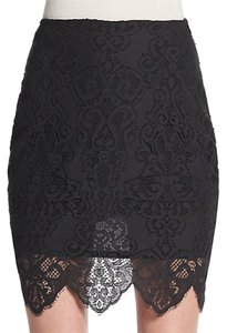 For Love & Lemons Lace Mini Mini Skirt Black