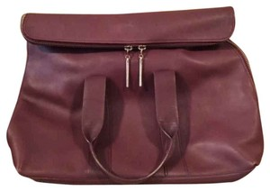 3.1 Phillip Lim 100% Cow Leather Lined Tote in Burgundy