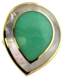 Ippolita Ippolita Mother of Pearl Chrysoprase Ring 18K Gold New without Tags
