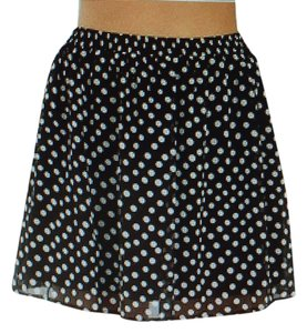 Sugarlips Mini Skirt Blk/white