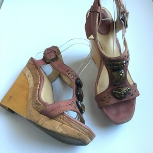 Frye Embellished Wedge Resort Reddish brown/Cork/Wood Wedges