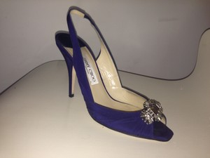 Jimmy Choo Sapphire Crepe De Chine Wedding Shoes