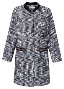 Tory Burch Tweed Marbled Pea Coat