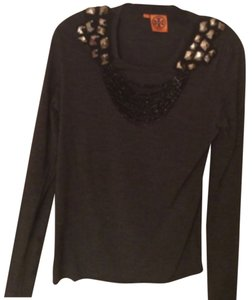 Tory Burch beaded top charcoal size Xsmall. Sweater