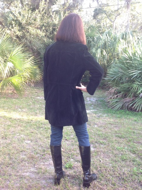 Style & Co Suede Thigh Length Leather Jacket
