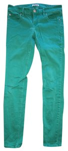 Express Skinny Pants Emerald Green