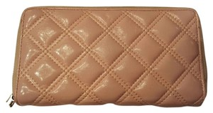 Forever 21 Pale Pink Patent Leather Quilted Zip Around Wallet