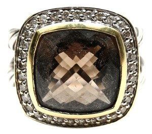 David Yurman David Yurman Smoky Quartz Albion Large Stone With Diamonds