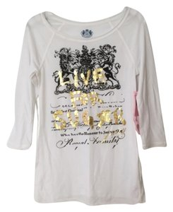 Juicy Couture T Shirt White, black, gold