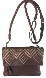 Isabella Fiore Tahoe Weave Distressed Cross Body Bag