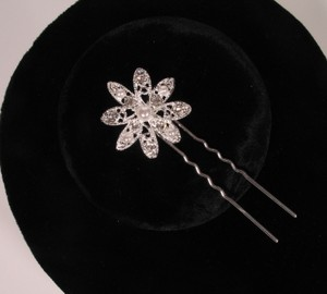 Your Dream Dress Exclusive Shp327 Silver Hair Pin Bridal Headpiece