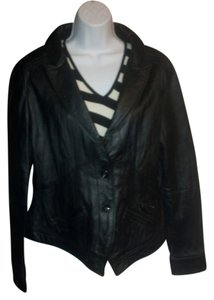 United Face New York Distressed Leather Retro Leather Jacket