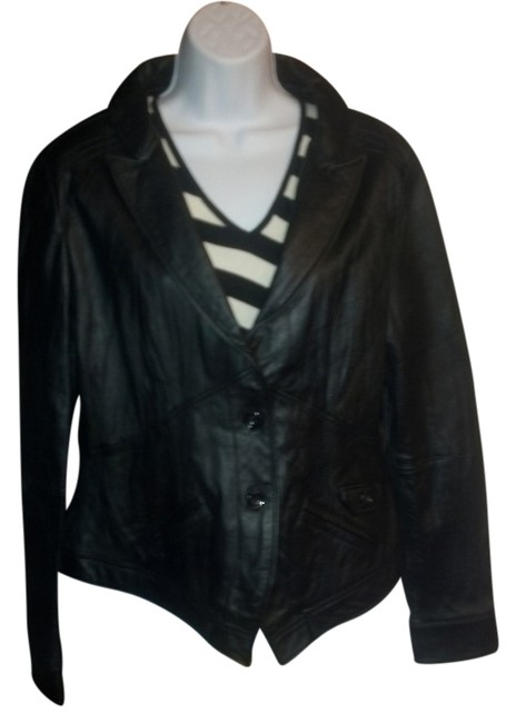 United Face New York Distressed Retro Leather Jacket