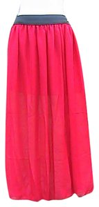 Other W/O Tag Chiffon Maxi Skirt Red