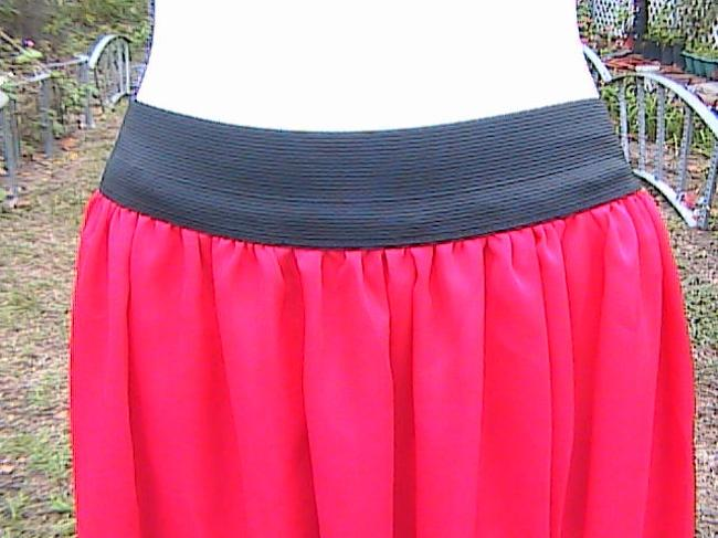 Other W/O Tag Chiffon Maxi Skirt Red Image 1