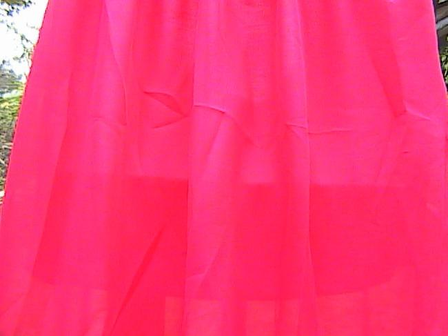 Other W/O Tag Chiffon Maxi Skirt Red Image 2