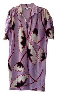 Diane von Furstenberg Dvf Silk Shirt Art Deco Dress
