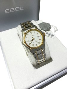 Ebel Ebel 1911 Men's Stainless Steel & 18 Karat Yellow Gold Watch White Dial