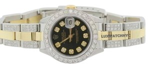 Rolex Ladies Rolex Datejust With 4ct Diamonds
