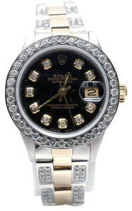 Rolex Ladies Rolex Datejust With 4ct Diamonds & Appraisal
