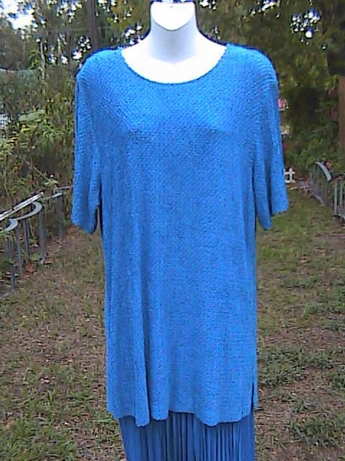 Blue Maxi Dress by Sharade Pc Or Office Attire Image 2