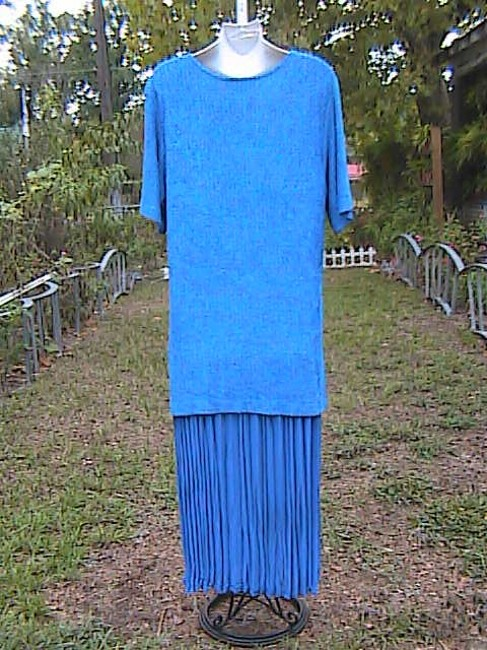 Blue Maxi Dress by Sharade Pc Or Office Attire Image 5