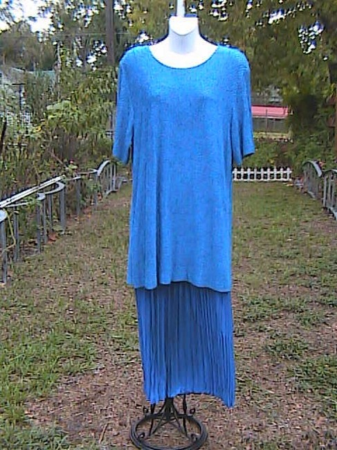 Blue Maxi Dress by Sharade Pc Or Office Attire Image 7