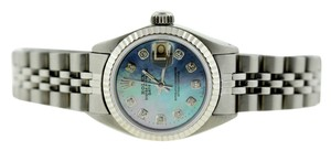 Rolex LADIES ROLEX DATEJUST STAINLESS STEEL WITH BLUE MOTHER OF PEARL WATCH
