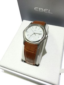 Ebel Ebel 1911 Men's Automatic Watch Stainless Steel With Brown Leather Strap, 993902