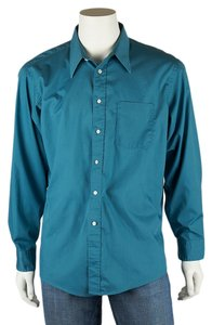 Dior Mens Shirt Button Down Shirt Blue