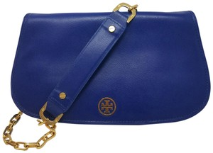 Tory Burch Textured Robinson Gold Hardware Chain Logo Shoulder Bag