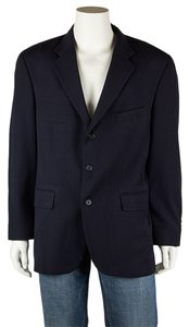 Oscar de la Renta Mens Wool Jacket Black Blazer