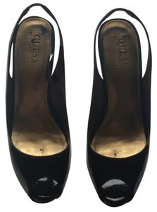 Guess By Marciano Patent Black Platforms