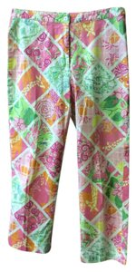 Lilly Pulitzer Capris Pink, green, orange, and yellow