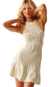 Victoria's Secret short dress Ivory Sweaterdress Textured Crochet Drop Waist Date Night on Tradesy
