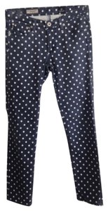 AG Adriano Goldschmied Polka Dot Ankle Skinny Jeans