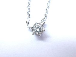 Fine Round Cut Diamond Solitaire Pendant Necklace 14kt .30ct 16