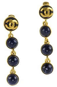 Chanel Chanel Rare Vintage CC Logo Blue Drop Earrings