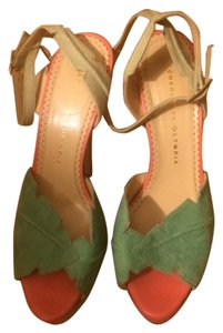 Charlotte Olympia Platform Strappy Mutlicolored Pastel Sandals