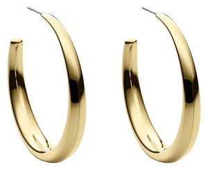 Michael Kors MKJ3654 Michael Kors Women Gold Tone Open Hoops Stainless Steel