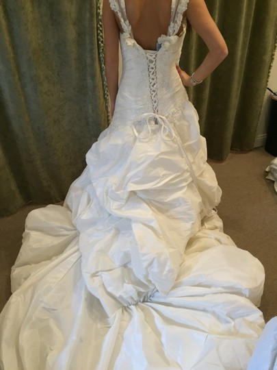 Maggie Sottero Ivory Taffeta Decadence Formal Wedding Dress Size 10 (M) Image 1