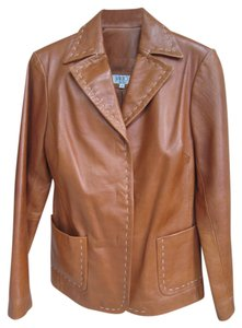 Vakko Soft Leather Designer Leather Leather Leather Blazer Blazer Sports Soft Leather Rust Terracotta Leather Jacket