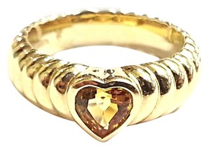 Tiffany & Co. TIFFANY & CO 18 KARAT YELLOW GOLD CITRINE HEART RING