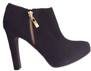 Marc Fisher Black Ankle Suede Black Suede Boots