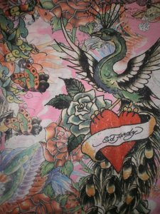 Ed Hardy Christian Audiger Polo Tattoo Chic Cute Top Pink/various