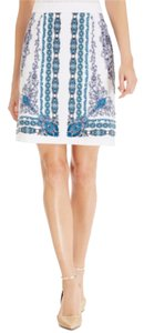 Laundry by Shelli Segal Skirt Blue White
