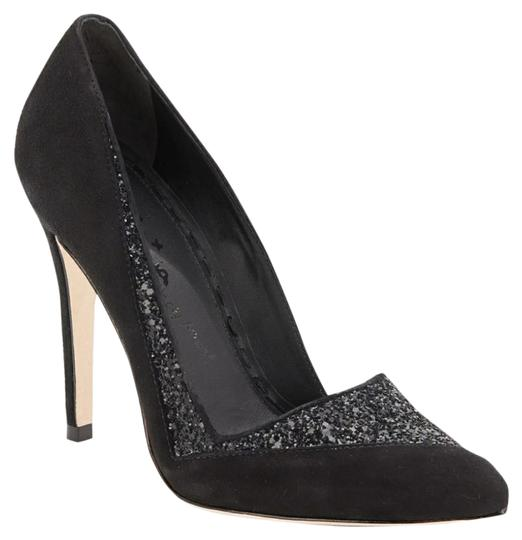 Alice + Olivia Black suede Pumps Image 0
