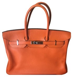 Hermès Satchel in Orange Clemence