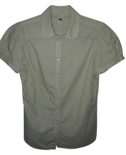Gap Button Down Shirt White/Green